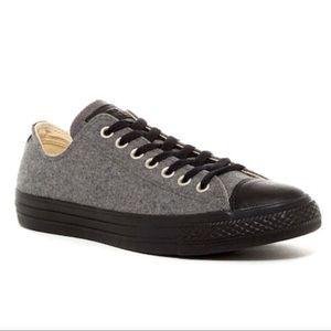 🆕 Heather Grey Tweed Converse All Star Chucks